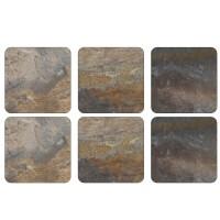 Podkładki Earth Slate 10.5x10.5 cm Pimpernel