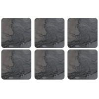 Podkładki Midnight Slate 10.5x10.5 cm Pimpernel