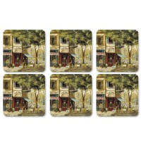 Podkładki Parisian Scenes 10.5x10.5 cm Pimpernel