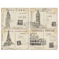 Podkładki Postcard Sketches 10.5x10.5 cm Pimpernel