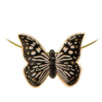 Naszyjnik Butterfly Black-White  Joanna Charlotte Goebel