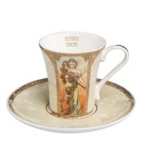 Filiżanka espresso Spring / Summer 100ml Alphonse Mucha Goebel