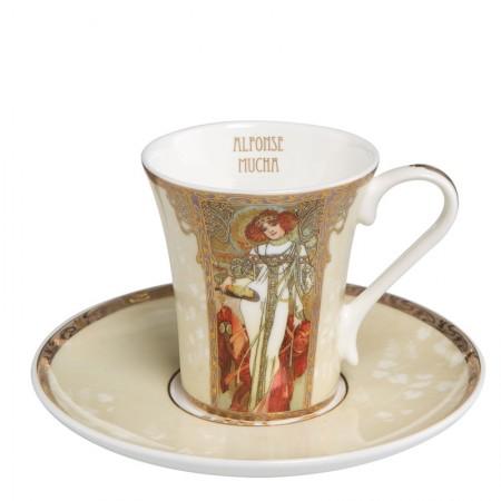 Filiżanka espresso Autumn / Winter 100ml Alphonse Mucha Goebel