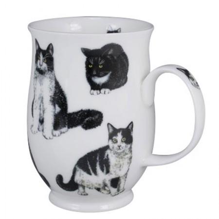 Kubek Suffolk Cats Black&White 300ml Dunoon