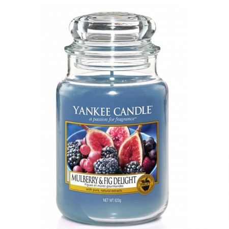 Świeca duża Yankee Candle Mulberry & Fig Delight
