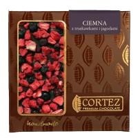 Czekolada ciemna z truskawkami i jagodami 85g Cortez