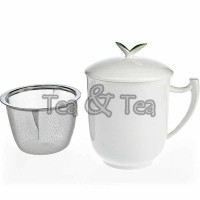 Kubek Tea Time z zaparzaczem i pokrywką 300ml Tea Logic
