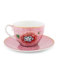 Filiżanka cappucino Spring of Life pink 380ml Pip studio