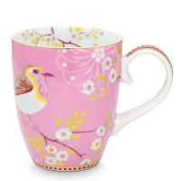 Kubek duży Early Bird Pink Floral 350ml Pip Studio