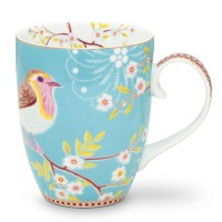 Kubek duży Early Bird Blue Floral 350ml Pip Studio