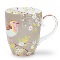 Kubek duży Early Bird Khaki Floral 350ml Pip Studio