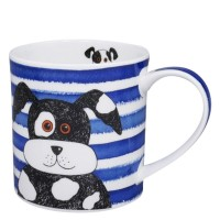 Kubek Orkney Stripy Dog Blue 350ml Dunoon