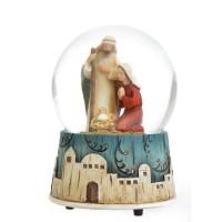 Kula wodna Święta Rodzina z pozytywką 14.5 cm
