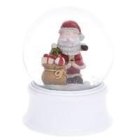 Mini kula wodna biała Mikołaj 6.5 cm