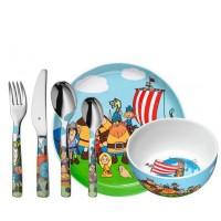 Zestaw obiadowy dla dzieci Wickie Pirat 6 części WMF