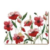 Podkładki Watercolour Poppy CT 30x23 cm 6 szt