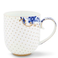 Kubek duży Royal White Dots 325ml Pip Studio