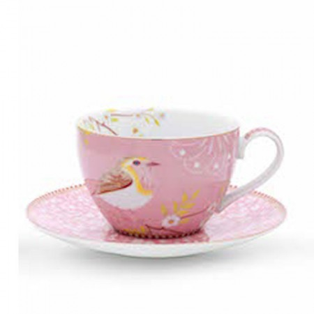Filiżanka cappucino Early Bird Pink Floral 280ml Pip studio