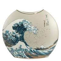 Wazon Great Wave 30cm Hokusai Katsushika Goebel