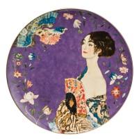 Talerz ścienny 'Lady with Fan' śr. 36 cm Gustaw Klimt Goebel