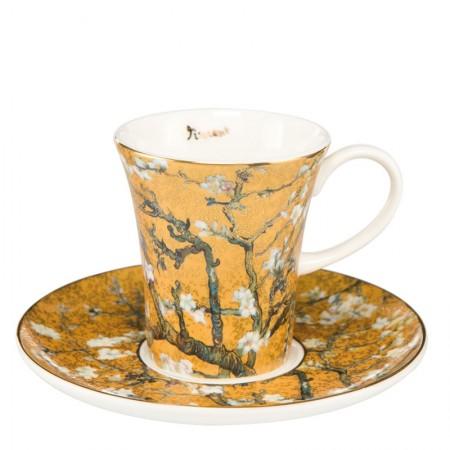Filiżanki espresso Almond Tree Gold 100ml 2 szt Vincent van Gogh Goebel