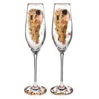 Kieliszki do szampana Pocałunek 2szt Gustaw Klimt Goebel