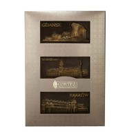 Zestaw czekolad ciemnych miasta polskie 210g Cortez