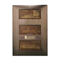 Zestaw czekolad mlecznych miasta polskie 210g Cortez