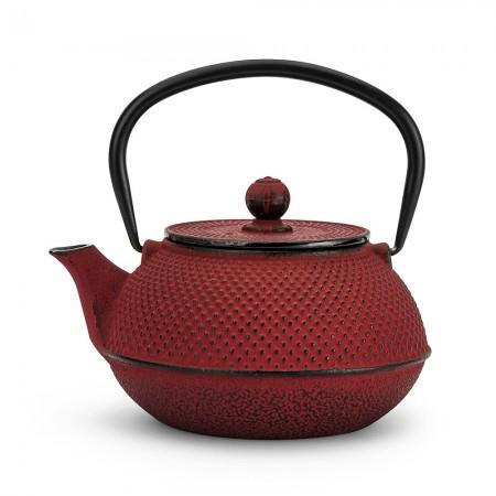 Dzbanek żeliwny czerwony 800ml do herbaty
