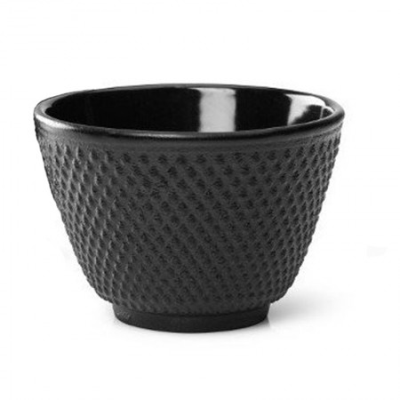 Czarka żeliwna czarne kropki 120ml czarna