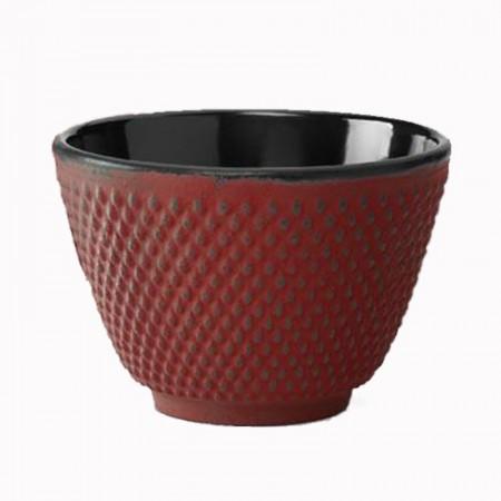 Czarka żeliwna czerwone kropki 120ml czarna