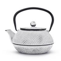 Dzbanek żeliwny biały 800ml do herbaty