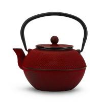 Dzbanek żeliwny czerwony 1200ml do herbaty