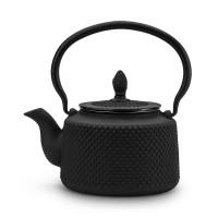 Dzbanek żeliwny czarny 850ml do herbaty
