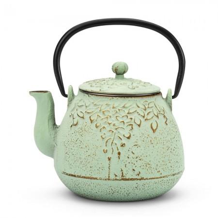 Dzbanek żeliwny zielony 950ml do herbaty