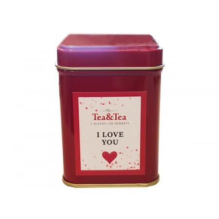 Herbata I LOVE YOU w czerwonej puszce 100g