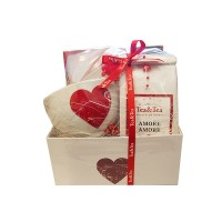 Pudełko prezentowe filiżanka z herbatą serca