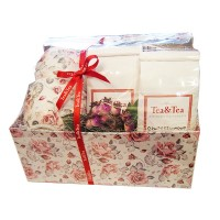 Pudełko prezentowe 2 filiżanki z herbatami