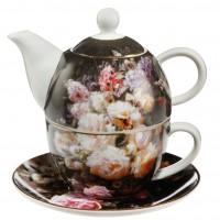 Tea For One Still Life with Roses 350ml Jean Baptiste Robie Goebel