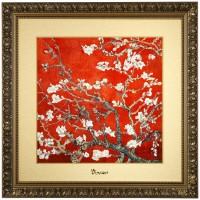 Obraz Almond Tree Red 68x68cm Vincent van Gogh Goebel