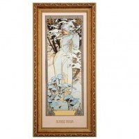 Obraz Winter 1900 27x57 cm Alphonse Mucha Goebel