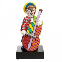 Figurka Bass Player 34.5cm Romero Britto Goebel