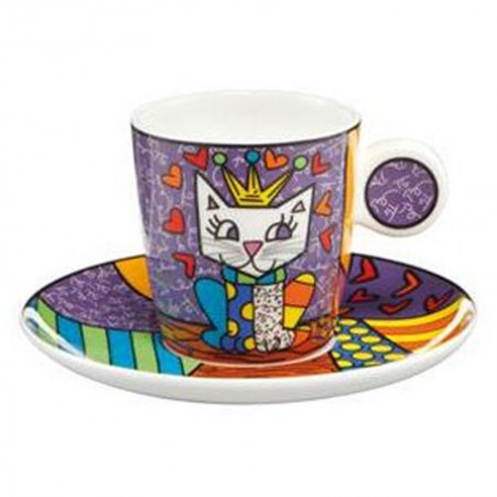 Filiżanka espresso Her Royal Highness 100ml Romero Britto Goebel