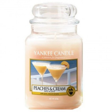 Świeca duża Yankee Candle Peaches Cream