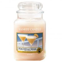 Świeca duża Yankee Candle Peaches Cream