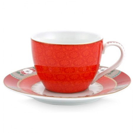 Filiżanka espresso Blushing Birds Red Pip Studio