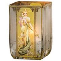 Świecznik Wiosna 1900 10cm Alphonse Mucha Goebel
