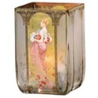 Świecznik Lato 1900 11cm Alphonse Mucha Goebel