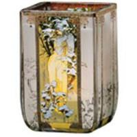 Świecznik Zima 1900 10cm Alphonse Mucha Goebel