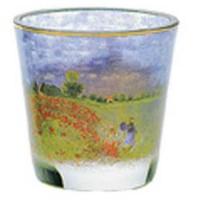 Świecznik szklany Maki w pobliżu Argenteuil 8cm Claude Monet Goebel